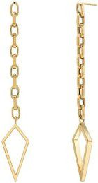 Gold Baby Amulet Chain Earrings
