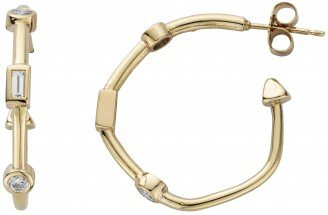 Gold Diamond Luxury Maxi Cupid Hoop Earrings-Daniella Draper