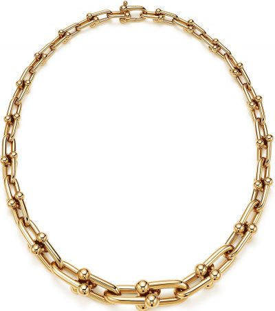 Gold Graduated Link Necklace