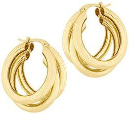 Gold Nirvana Hoop Earrings-Electric Picks