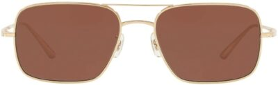 Gold The Row Victory L.A. Sunglasses-Oliver Peoples