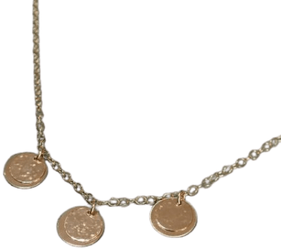Gold Three Layered Disc Necklace-All The Falling Stars