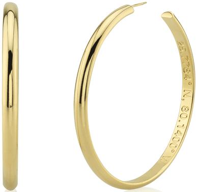 Gold Valentina Hoop Earrings-Svelte Metals