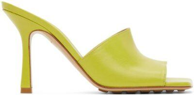 Green Stretch Heeled Sandals-Bottega Veneta