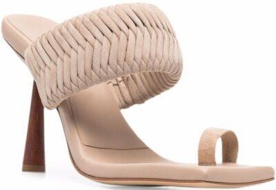 Light Beige Rosie 1 Sandals-Gia Borghini
