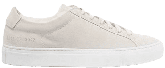 Light-Gray Retro Low Suede Sneakers-Common Projects