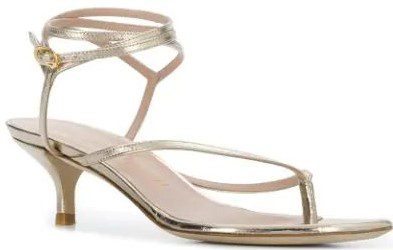 Metallic Jimena Sandals
