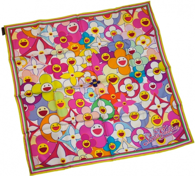 Multicolored Flower Scarf
