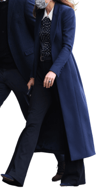 Navy Blue Custom Coat-Catherine Walker