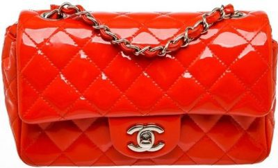 Patent Red Rectangular Mini Bag-Chanel