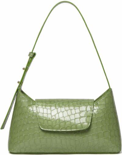 Pearl Jade Envelope Croco Bag-Elleme