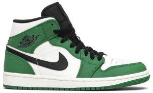 Pine Green Air Jordan 1 Mid Sneakers