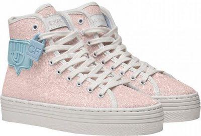 Pink Eyelike Sneakers