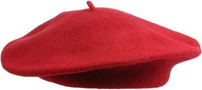 Red Wool Beret-Galeries Lafayette
