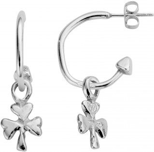 Silver Mini Cupid Hoops