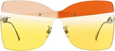 Two-Tone Lens Karligraphy Sunglasses-Fendi