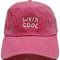Washed Pink Wavy Cap-Livincool