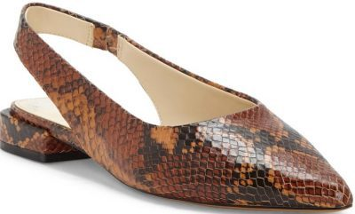 Wheat Leather Chachen Slingback Flat-Vince Camuto