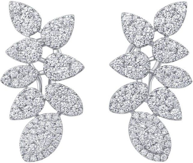 White Gold Reverie Couture Earrings
