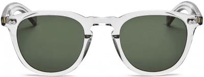 White Hampton X Round Sunglasses-Garrett Leight