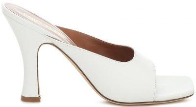 White Leather Sandals-Paris Texas