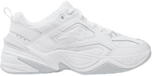 White Tekno Leather and Neoprene Sneakers
