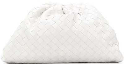 White The Pouch Intrecciato Bag-Bottega Veneta