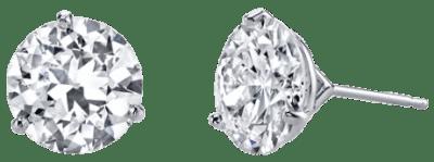 18 Karat White Gold Classic Stud Diamond Earrings