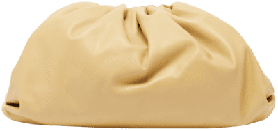 Beige The Pouch Large Leather Clutch Bag-Bottega Veneta