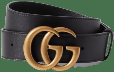Black Leather Belt-Gucci