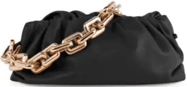 Black Medium The Chain Pouch Leather Clutch-Bottega Veneta