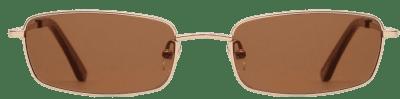 Brown Rectangular Sunglasses