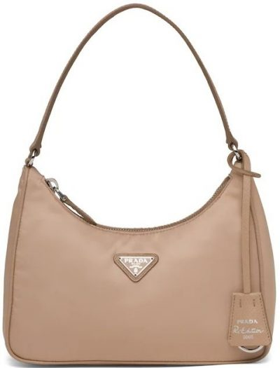 Cameo Beige Re-Edition 2005 Nylon And Saffiano Leather Mini-Bag-Prada