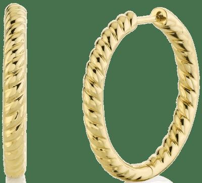 Gold Braided Hoop Earrings-Anita Ko