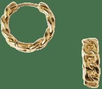 Gold Chain Huggie Hoop Earrings