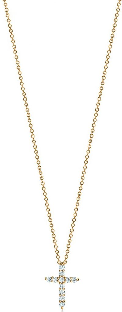 Gold Cross Pendant Necklace-Tiffany & Co.