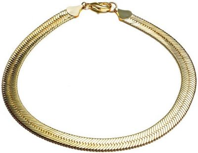 Gold Hailey Herringbone Chain Necklace