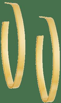 Gold Maya Hoop Earrings-Jennifer Zeuner