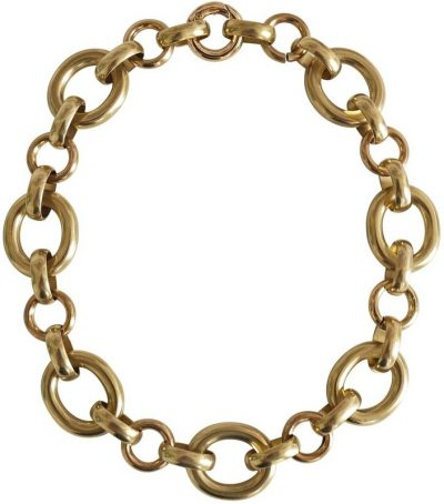 Gold Plated Calle Necklace-Laura Lombardi