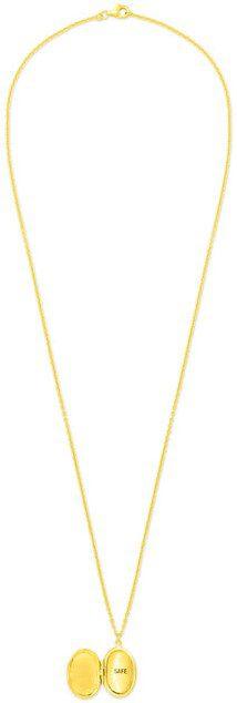 Gold Safe Locket Necklace-PATTARAPHAN