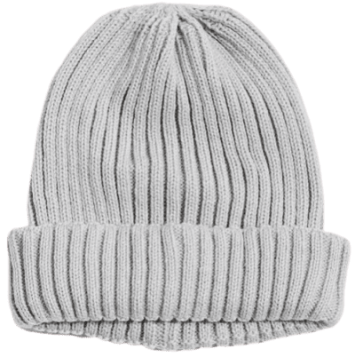 Grey UO Wide Knit Beanie-Urban Outfitters