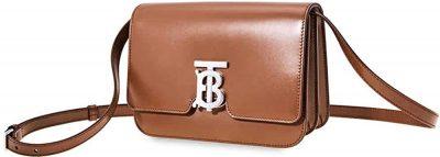 Malt Brown Small Leather TB Bag-Burberry
