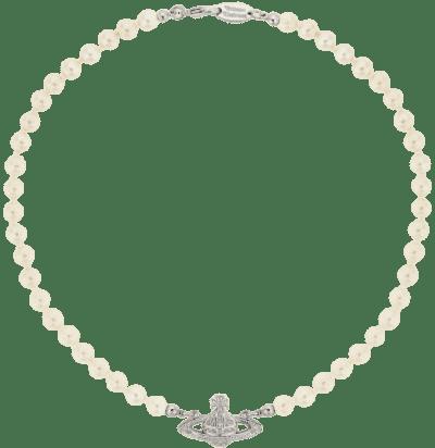 Mini Bas Relief Pearl Choker-Vivienne Westwood