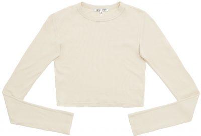 Oatmeal Verona Crop Shirt