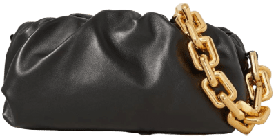 The Pouch Chain-Embellished Leather Clutch-Bottega Veneta