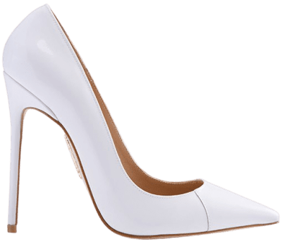 White Patent Leather Pointy Toe Heels
