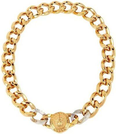 Black Medusa Chain Necklace-Versace