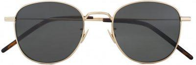 Gold Black New Wave SL 299 Round Sunglasses