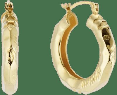 Gold Claira Hoop Earrings-Aureum
