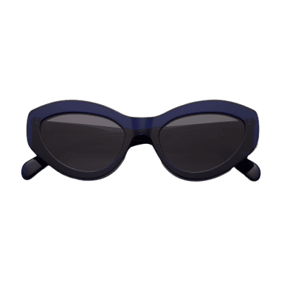 Just Blue Just Right Glossy Sunglasses